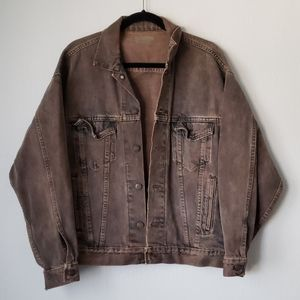 Levi's Vintage Denim Jean Jacket Brown